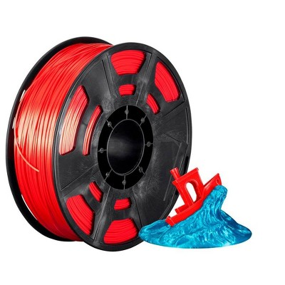 Monoprice Hi-Gloss 3D Printer Filament PLA 1.75mm - 1kg/spool - Red , Works With All PLA Compatible 3D Printers