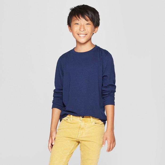 Boys' Long Sleeve T-Shirt - Cat & Jack™ - image 1 of 3