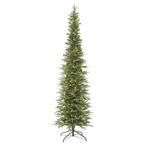 7.5ft Pre-Lit Artificial Christmas Tree Bixley Pencil Fir - with 400 Warm  White LED Lights - 7.5ft Pre-Lit Artificial Christmas Tree Bixley... : Target