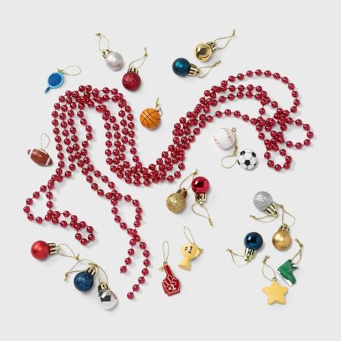 30pc Sports Resin Shatter-Resistant Christmas Ornament Set - Wondershop™ - image 1 of 2