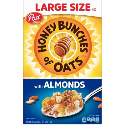 Honey Bunches With Almonds Breakfast Cereal - 18oz - Post