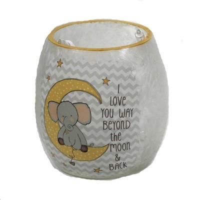 "Stony Creek 3.0"" Moon & Stars Pre-Lit Votive Elephant Baby  -  Novelty Sculpture Lights"