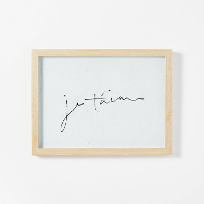 """16"""" x 12"""" Je Taime Framed Wall Art - Threshold™ designed with Studio McGee"""