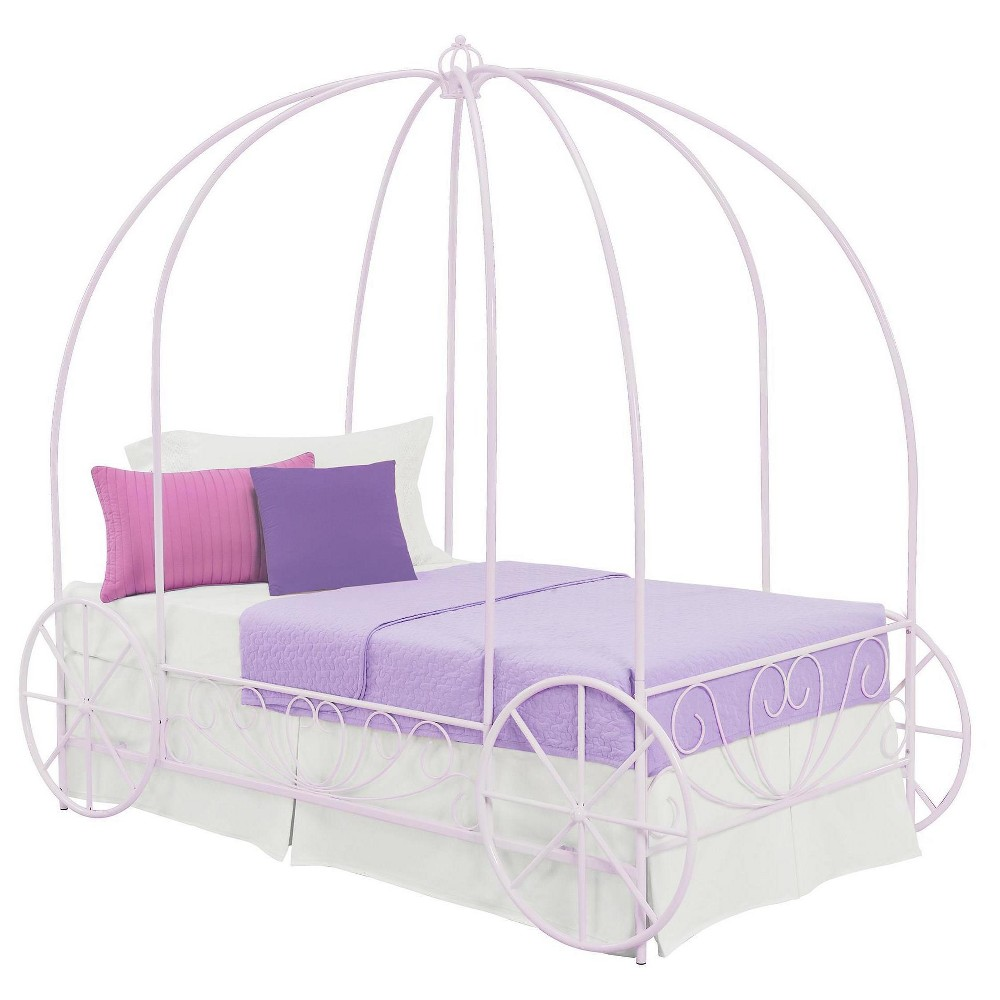 Metal Carriage Bed (Twin) - Lilac (Purple) - Dorel Home Products