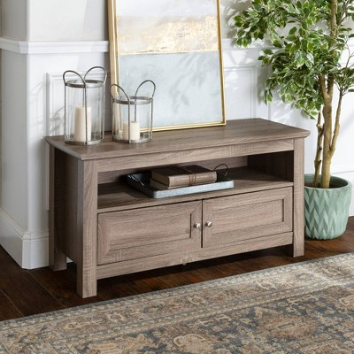 """2 Component Door Console TV Stand For TVs Up To 50"""" - Saracina Home : Target"""
