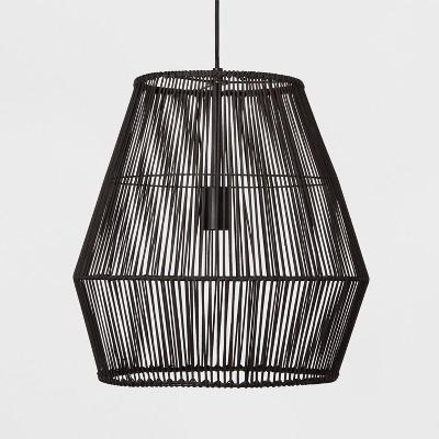 Diamond Rattan Ceiling Light Black Includes Energy Efficient Light Bulb - Opalhouse™