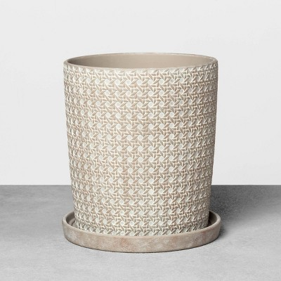 12  Caning Planter Gray - Hearth & Hand™ with Magnolia