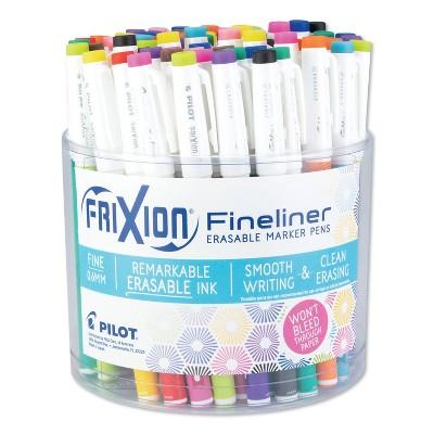 Pilot FriXion Erasable Stick Marker Pen 0.6 mm Assorted Ink/Barrel 72/Tub 12317
