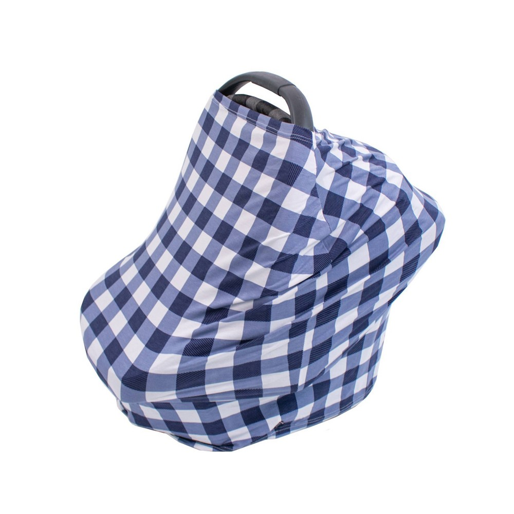 Image of Bebe au Lait 5-in-1 Premium Cotton Nursing Cover - Buffalo Check