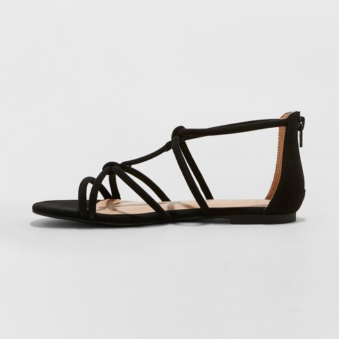 89afcd63b9c5 Women s Samina Wide Width Gladiator Sandals - A New Day™ Black 12   Target