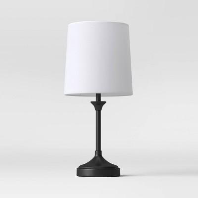 Metal Stick Lamp Mini Lamp Black - Threshold™