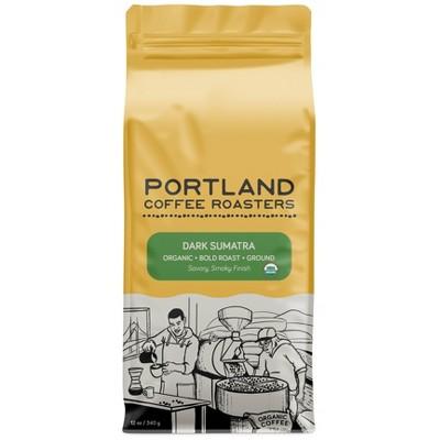 Portland Coffee Roasters Organic Dark Sumatra Ground Dark Roast Coffee - 12oz