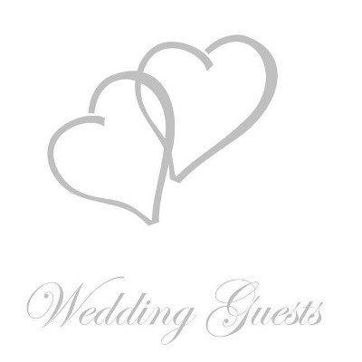 Wedding Guest Book, Bride and Groom, Special Occasion, Comments, Gifts, Well Wish's, Wedding Signing Book with Silver Love Hearts (Hardback)