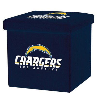 NFL Franklin Sports Los Angeles Chargers Storage Ottoman with Detachable Lid