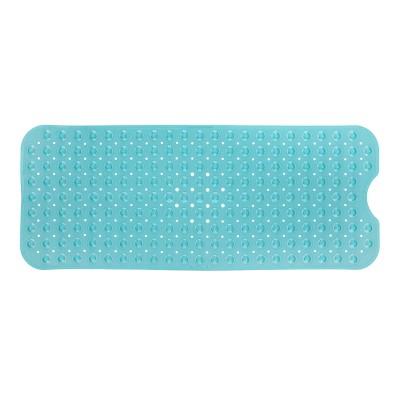 XL Non-Slip Bathtub Mat with Drain Holes Aqua - Slipx Solutions