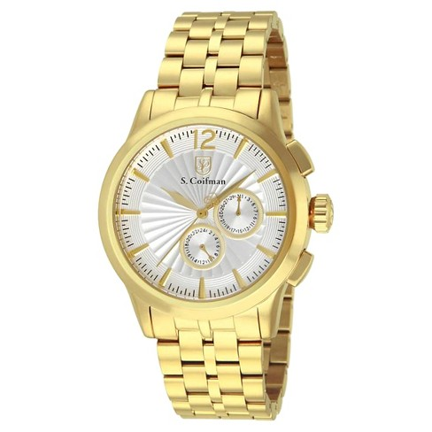 Men's Invicta SC0271 Quartz Chronograph Metallic White Dial Link Watch - Gold - image 1 of 1