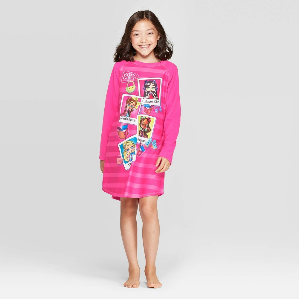 "Image of ""Girls' Jay@Play """"Boxy Girls"""" Nightgown - Pink 10-12, Girl's"""