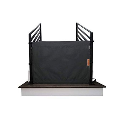 THE STAIR BARRIER 36 to 42 Inch Banister to Banister Portable Retractable Fabri Baby Kids Pet Safety Gate for Children, Dogs, and Cats, Burlap Black