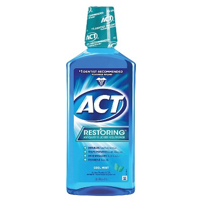 Act Cool Mint Restoring Fluoride Rinse   33oz by Act