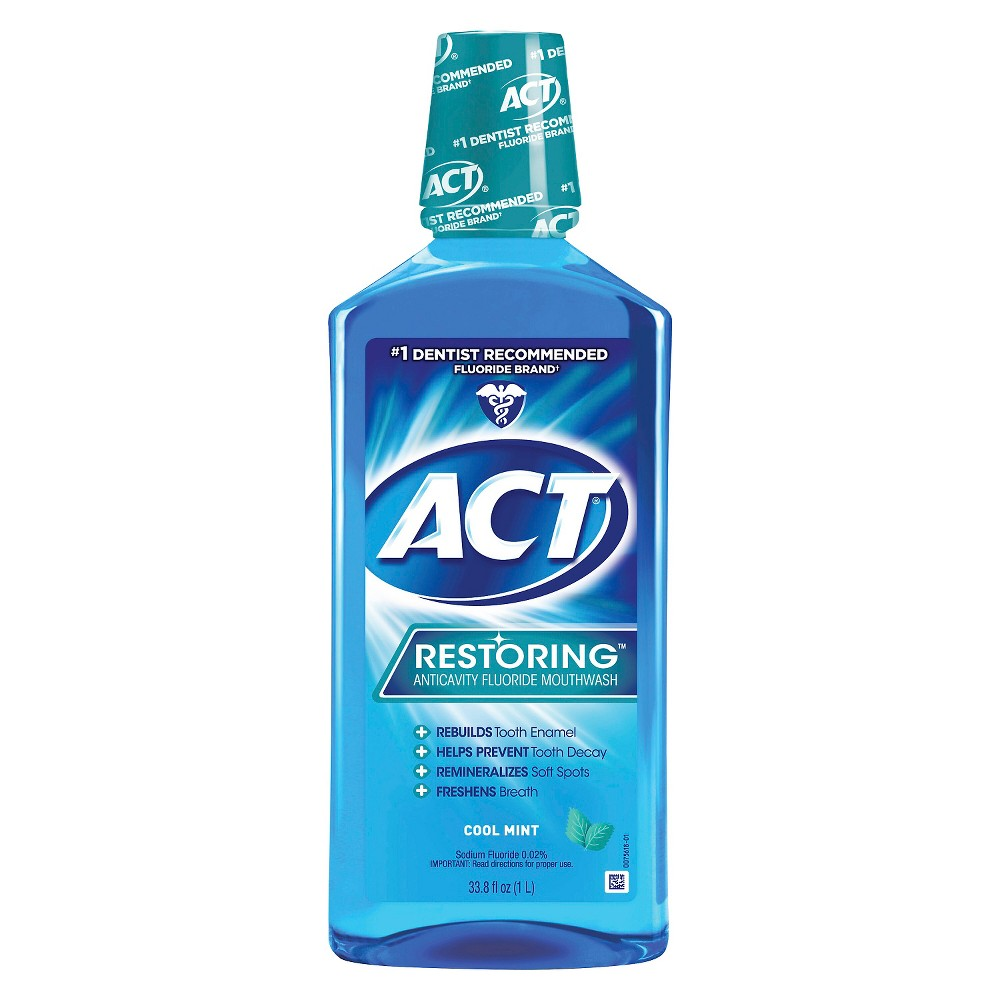 Image of Act Cool Mint Restoring Fluoride Rinse - 33oz