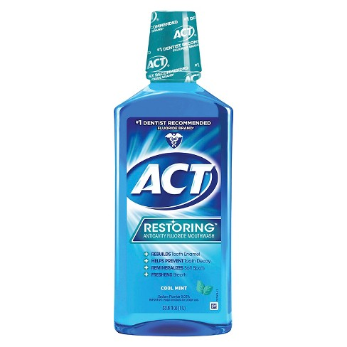 Act Cool Mint Restoring Fluoride Rinse - 33oz - image 1 of 2