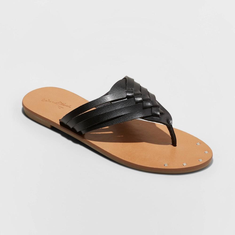 Women's Elani Woven Crossbrand Sandals - Universal Thread Black 10