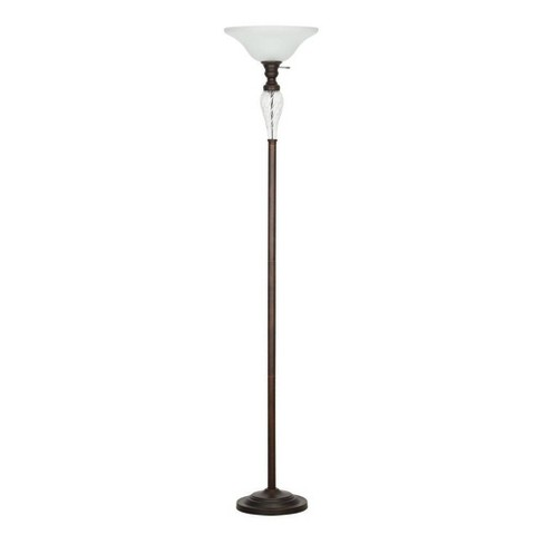 72 Torchiere Floor Lamp With Glass Accent Bronze Cresswell Lighting Target