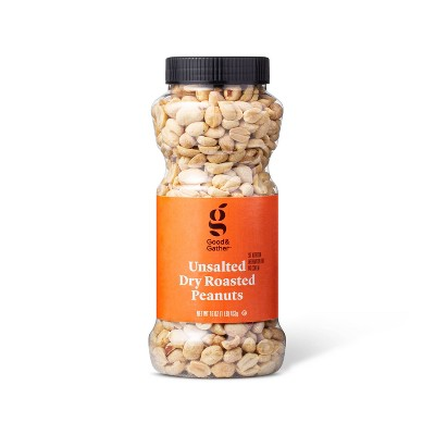 Unsalted Dry Roasted Peanuts - 16oz - Good & Gather™