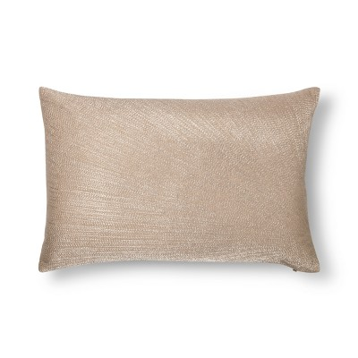 Gold Metallic Embroidered Lumbar Pillow - Fieldcrest®