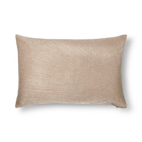 Gold Metallic Embroidered Lumbar Pillow - Fieldcrest® - image 1 of 1