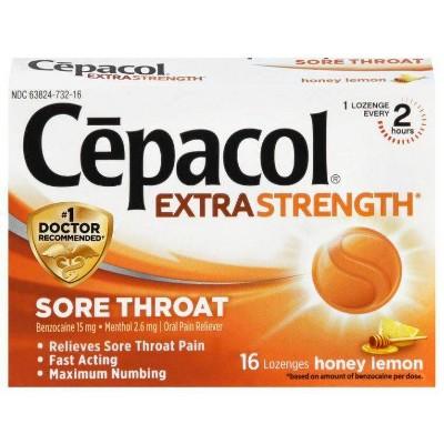 Cepacol Honey Lemon Lozenges -16ct