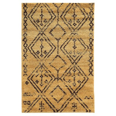 Moroccan Shag Area Rug - Fes Camel / Brown (5' X 7')