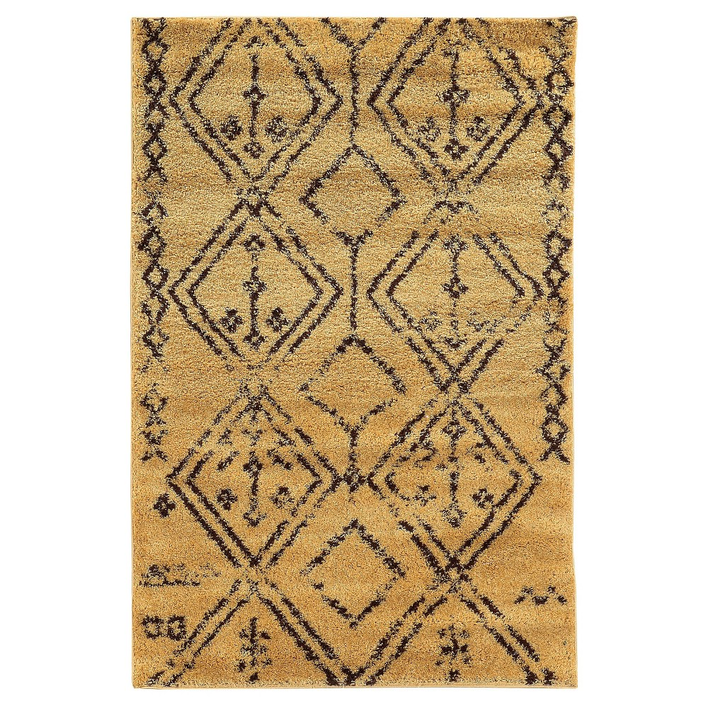 Moroccan Shag Area Rug - Fes Camel / Brown (8' X 10')