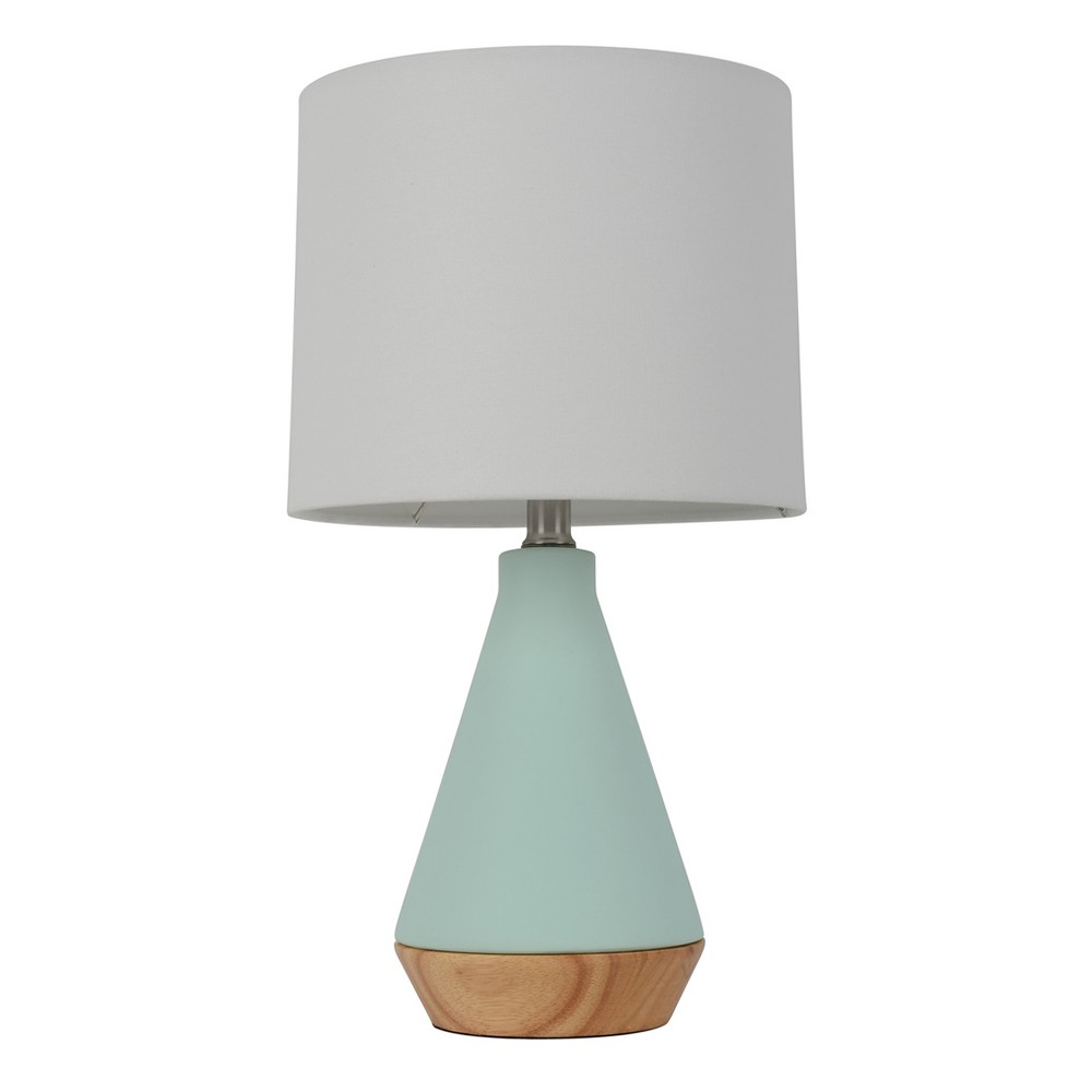 Modern Tapered Ceramic Table Lamp Mint (Green) (Includes Energy Efficient Light Bulb) - Project 62