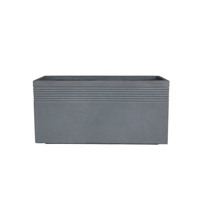 "31.5"" Kante Lightweight Concrete Modern Rectangular Outdoor Planter Gray - Rosemead Home & Garden, Inc."