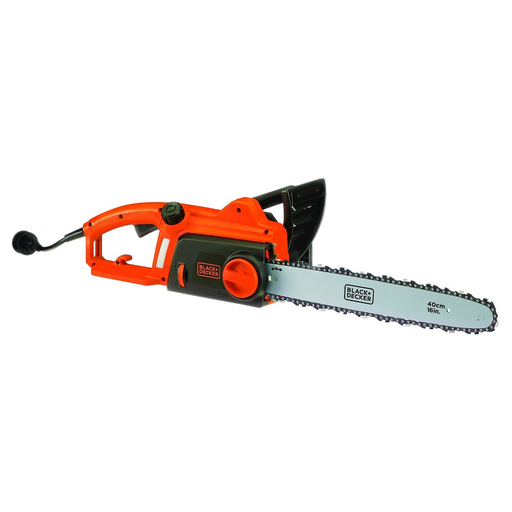 "Image of ""BLACK+DECKER 12"""" 120V AC Corded Chainsaw with Tool Free Tensioning - Orange Sorbet"""