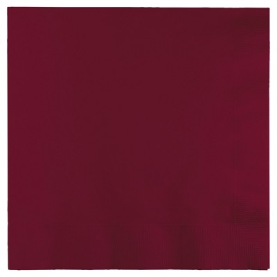 50ct Burgundy Red Napkins