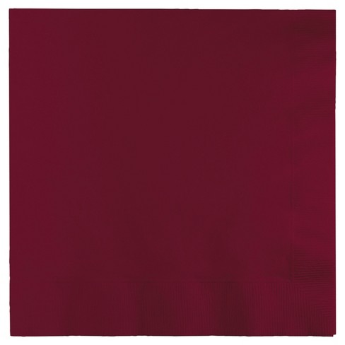 50ct Burgundy Red Napkins - image 1 of 1