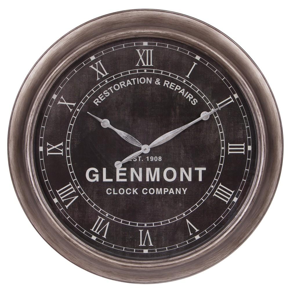 24 Glenmont Restoration and Repairs Antique Wall Clock Black - Patton Wall Decor