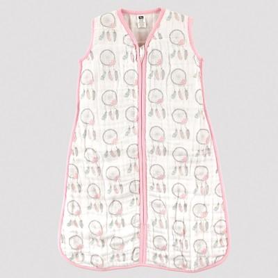 Hudson Baby Safe Sleep Wearable Muslin Sleeping Bag - Dream Catchers - 0-6M