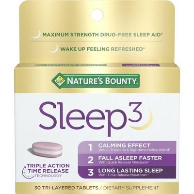 Nature's Bounty Sleep 3 Tri-Layered Tablets - 30ct
