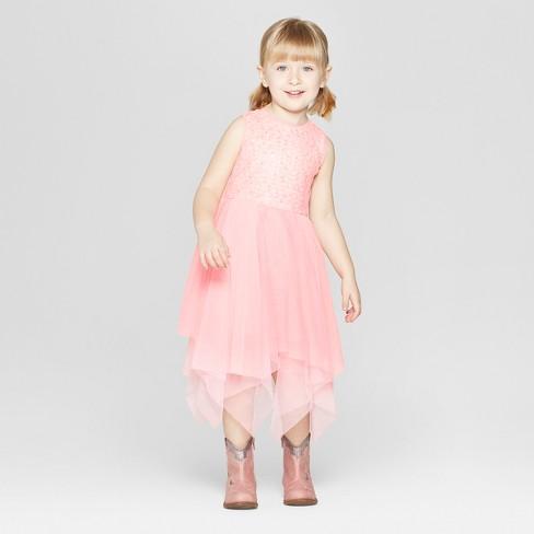 3f0dd482461 Toddler Girls  Sequin A-Line Dress - Cat   Jack™ Pink   Target