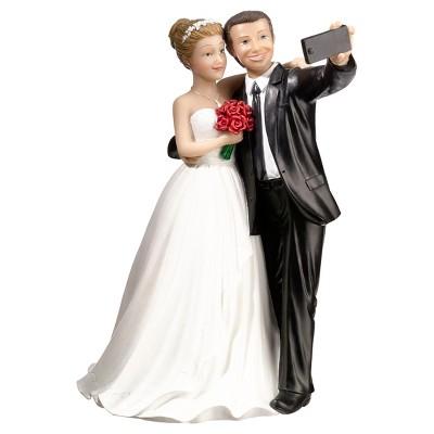 Selfie Couple Caketop Figurine