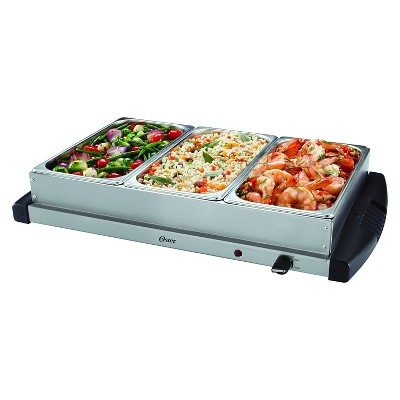 oster triple warming tray buffet server ckstbstw00 target rh target com Warming Trays On Sale Buffet Heating Trays