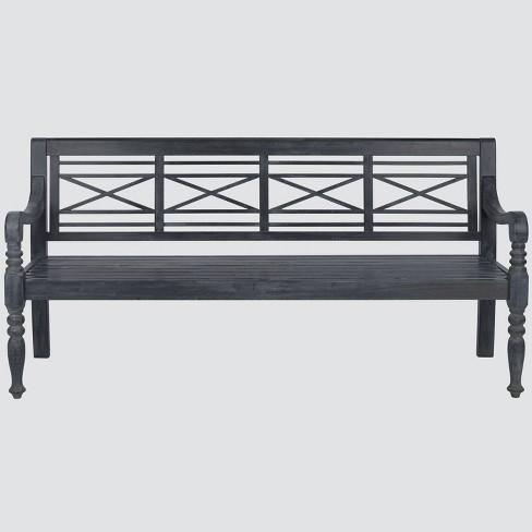 Catalonia Wood 4-Seater Patio Bench - Safavieh® - image 1 of 4