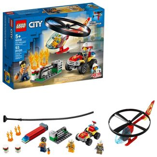 LEGO City Fire Helicopter Response Firefighter Building Set 60248