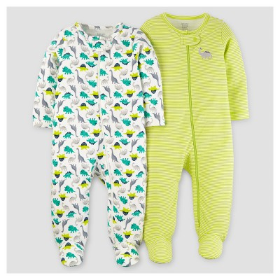 Baby Boys' 2pk Dinos Sleep N' Play - Just One You™ Made by Carter's® Lime/Blue Preemie