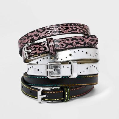 Kids' 3pk Leopard Printed Belt - Cat & Jack™