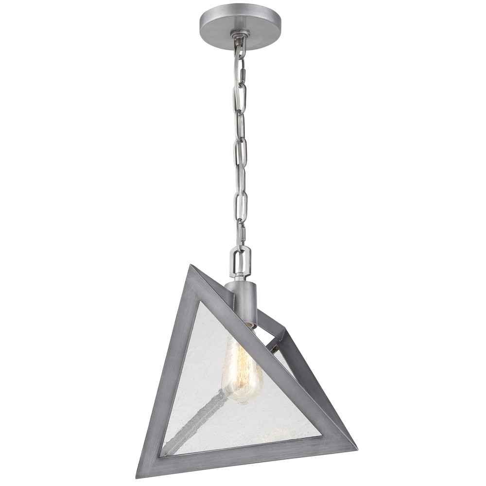Overrule 1-Light 18.13 Pendant - Brushed Silver Coffee Bronze - Rogue Decor Co.