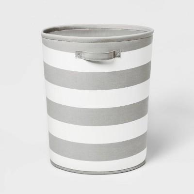 Floor Canvas Stripe Bin Gray - Pillowfort™